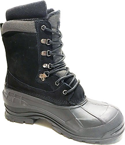 "L&M LM Men's Black 10"" Winter Snow Hunting Boots Shoes Wa..."