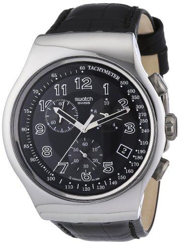 Chrono Swatch Watch (Swatch Irony Chrono Your Turn Black Men's watch #YOS440)