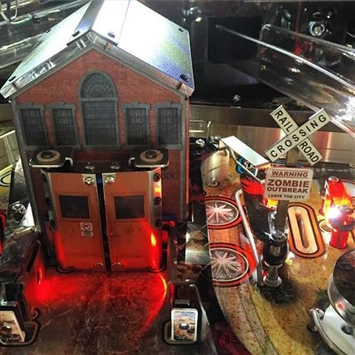 Railroad Crossing MOD for Stern's The Walking Dead pinball machine by ULEKStore