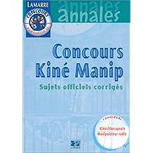 Concours kiné manip - 1999 - annales - sujets officiels corrigés