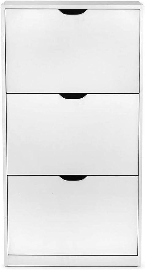 4Kraft Viki Meuble /à Chaussures Style scandinave Blanc