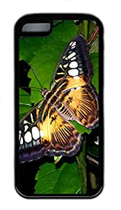 iPhone 5C Cases & Covers - Big Butterfly Custom TPU Soft Case Cover Protector for iPhone 5C¨CBlack