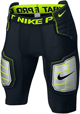 Mens Nike Hyperstrong Compression Hard Plate Football Pant XL, White//Green//White