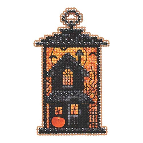 Moonstruck Manor Beaded Counted Cross Stitch Ornament Kit Mill Hill 2019 Autumn Harvest MH181923]()