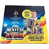 2017-18 Topps Match Attax Champions League Cards 30 Pack Box (6 Cards per Pack) (TOTAL of 180 Cards)