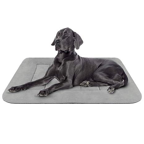 Hero Dog Colchoneta Grande Suave para Perros - 100% Lavable A Máquina, Colchón De Lujo Antideslizante De Gris L