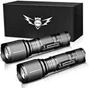 Tactical Flashlight,LETMY Ultra Bright 2000 Lumen XML T6 LED Flashlights with 5 Modes, Zoomable and Water Resi