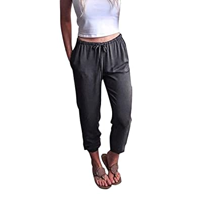 Pantalón Joggers para Mujer Pantalón para Pitillo Delgados Jeans Stretch Correr Diseñador Suelto Chino Boyfriend Jersey Pantalones Yoga Jazz Relajado Pantalones Harem Pantalones Anchos Pantalón: Ropa y accesorios