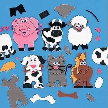 (Farm Animal Magnet Craft Kit)