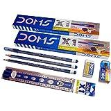 Doms X1 Super Dark Pencil Pack Of - 10 & 10 Scale