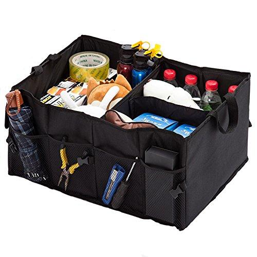 Car Trunk Pocket Auto Organizer -Premium Oxford Nylon 3 Compartments with side pocket 21 inch x 15 inch x 10 inch