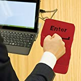 Creazy Big Enter Key USB Pillow Anti-stress Relief Super Size Enter Key Unbreakable