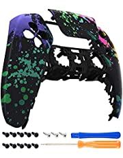 eXtremeRate Watercolour Splash Touchpad Front Housing Shell for PS5 Controller, DIY Replacement Shell Custom Touch Pad Cover Faceplate for Playstation 5 Controller - Controller NOT Included