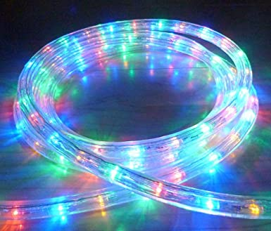 16 METRE MULTICOLOUR LED ROPE LIGHT 576 LEDS WITH 8 FUNCTION ...