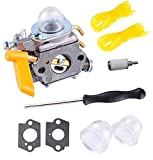 Podoy 26cc Carburetor for Ryobi Homelite 25cc C1U-H60 Fuel Line Primer Bulb Adjusting Tool Kit 30cc String Trimmer Backpack Blower Weed Eater Carb