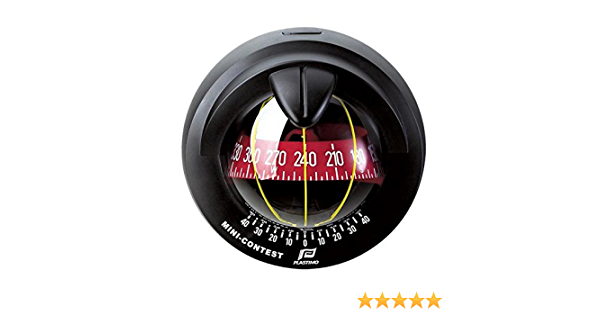 Contest 101 Plastimo Marine Compass Black Vertical Bulkhead Red Card
