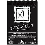Bloco Espiralado Canson XL® Dessin Noir Black 150g/m² A3 29,7 x 42 cm com 40 Folhas – 400039087