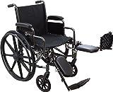 "Roscoe Medical K31616DHREL K3-Lite Wheelchair with Elevating Legrests, 16"""