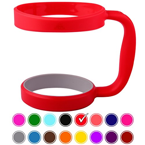 STRATA CUPS RED 30oz Tumbler Handle For YETI tumbler, RTIC, OZARK trail tumbler, SIC, and Other Ramblers Cups – No Slip Grip - BPA FREE