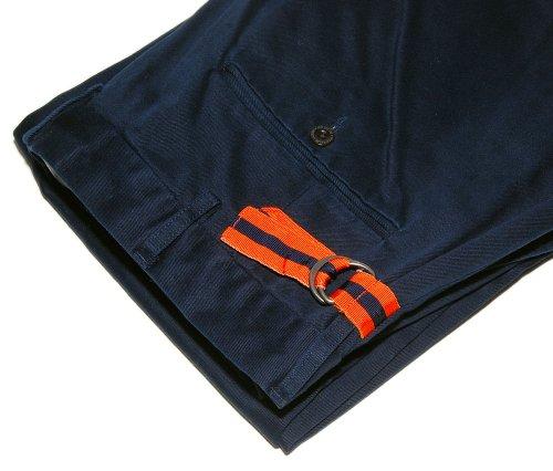 Polo Ralph Lauren Mens Nautical Yaht Chino Khaki Cotton Pants Navy Orange 34/32