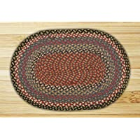 Earth Rugs 05-043 Oval Rug, 2 x 8, Burgundy/Blue/Gray