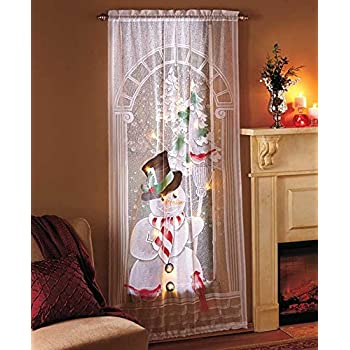 Amazon Com Decorative Led Lighted Christmas Snowman Lace