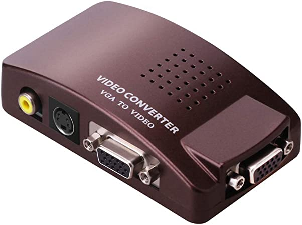 YILONG Universal NTSC PAL VGA a NTSC PAL TV AV RCA Adaptador de la señal Video del convertidor de la Caja de Interruptor de Repuesto para Ordenador portátil PC: Amazon.es: Hogar