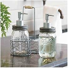 Mud Pie Fresh Jar Soap Pump Caddy, Silver
