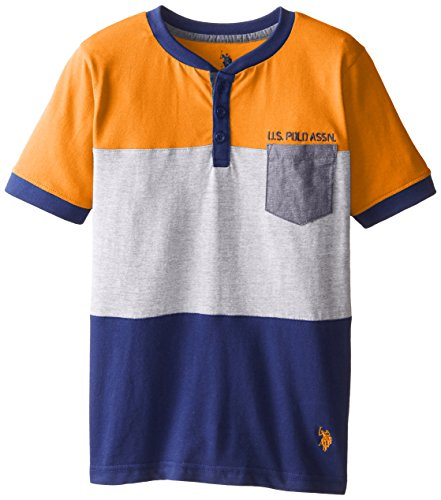 us-polo-assn-big-boys-short-sleeve-henley-light-orange-14-16