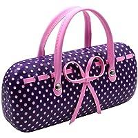 MyEyeglassCase Hard Eyeglass Case with Handles and cloth | Mini bag case for women teens & girls | fits medium frames
