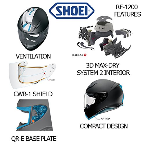 Shoei Men's Rf-1200 Metallic Full Face