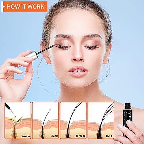 Eyelash Growth Serum, LIONFORCE Lash Serum, Non-Irritating, Pure Natural, Rapid Lash Eyelash Growth Serum, Compound Peptide & Plant Extract for Longer, Fuller Thicker Lashes & Brows(5ML)