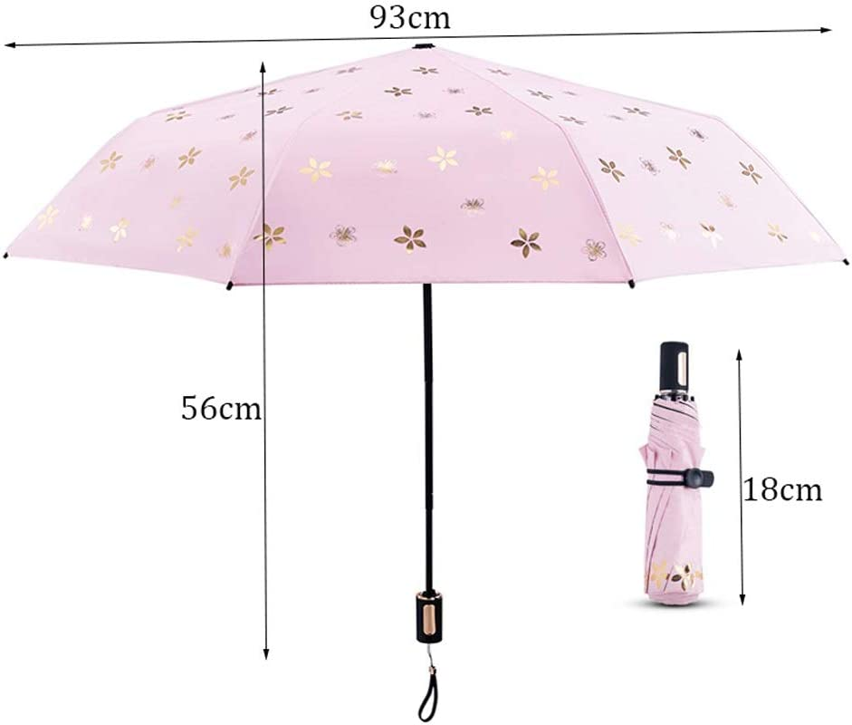 Portable Black Plastic Sunscreen Super Light Sun Umbrella Dual-use Rain Sunshade Sunscreen Folding Sun Umbrella