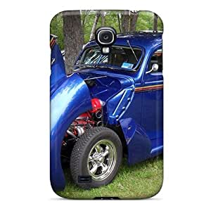 High Grade WilliamMorrisNelson Flexible Tpu Case For Galaxy S4 - Fat Fendered 1940's Hot Rod