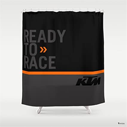 Weeya KTM Black Shower Curtain 60 X 72 Inch