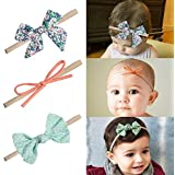 10 PCS Baby Girl Headbands and Bows Soft Headbands and Bows Nylon Hairbands Hair Bow Baby Girl Gifts Newborn Infant Toddler Hair Accessories