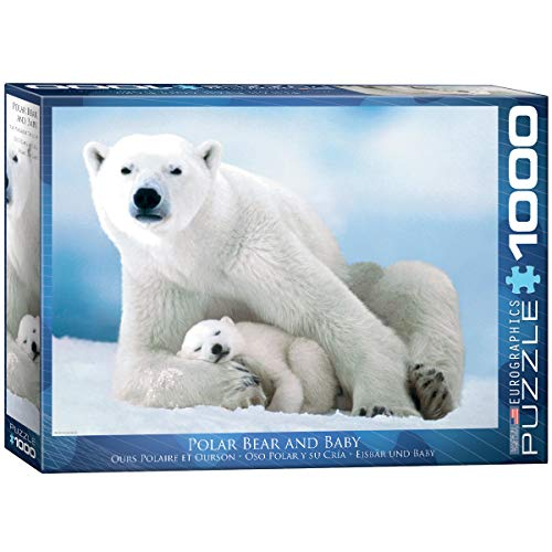 EuroGraphics Polar Bear and Baby Puzzle (1000-Piece)