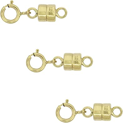 14K Gold Filled Magnetic Clasp for Jewelry and Necklaces 2 Pack Made in USA 4.5 mm