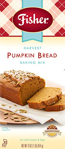 Pumpkin Spice Bread Recipe (Fisher Harvest Pumpkin Bread Baking Mix, 16 Ounce)