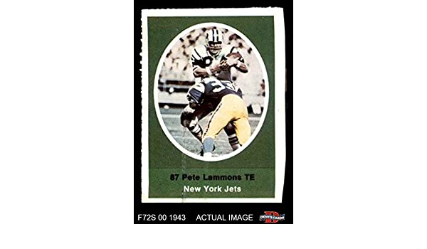 Amazon.com: 1972 Sunoco Stamps Pete Lammons New York Jets (Football Card) Deans Cards 6 - EX/MT Jets: Collectibles & Fine Art