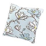 Souarts Flowers Chair Back Cushion Polyester Throw Square Pillowcase Decorative Pillowcase 4545cm