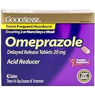 GoodSense Omeprazole Delayed Release, Acid Reducer Tablets...