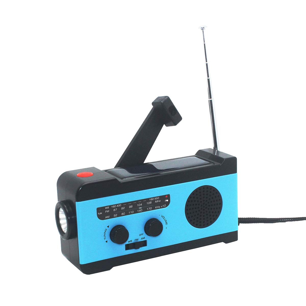 VOSAREA Portable Radio FM Receiver Emergency Radio with Alarm Clock FM Radio FM Receiver by VOSAREA (Image #2)