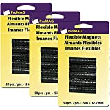 ProMag Flexible Round Magnets, 0.5-Inch, 50-Pack (3)