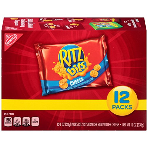 Ritz Bits Cheese Cracker Sandwiches - Snack Packs, 12 Count Box, 12 Ounce (Cheese Crackers Snacks)