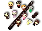 Cute Jibbitz Shoe Charms PVC Plug by Nenistore|Accessories for Crocs Shoes & Bracelet Wristband Party Gifts | Harry Potter (11 pcs) FREE 01 Silicone Wristband 7 Inches
