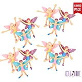 """CUZAIL Party Favor Bendable Fairy Figures Fairy Party Toys 4 """" Tall -12 Pack - Great for Birthday Toys, Gifts and prizes."""