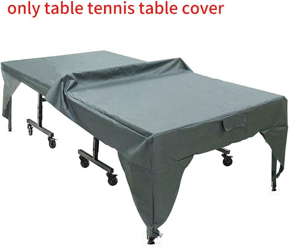 plegable funda protectora para interior resistente al desgaste Moosungeek f/ácil de limpiar protecci/ón durante todo el a/ño resistente al agua Funda para mesa de pingpong al aire libre