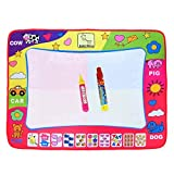 Large Aqua Doodle Mat Magic Water Drawing Painting Writing Mat Pad Board 2 Pen 4 Color Develop Intelligence Learning Toy Gift for Boys Girls Toddlers Kids Children 31.5 x 23.6 Inches D3