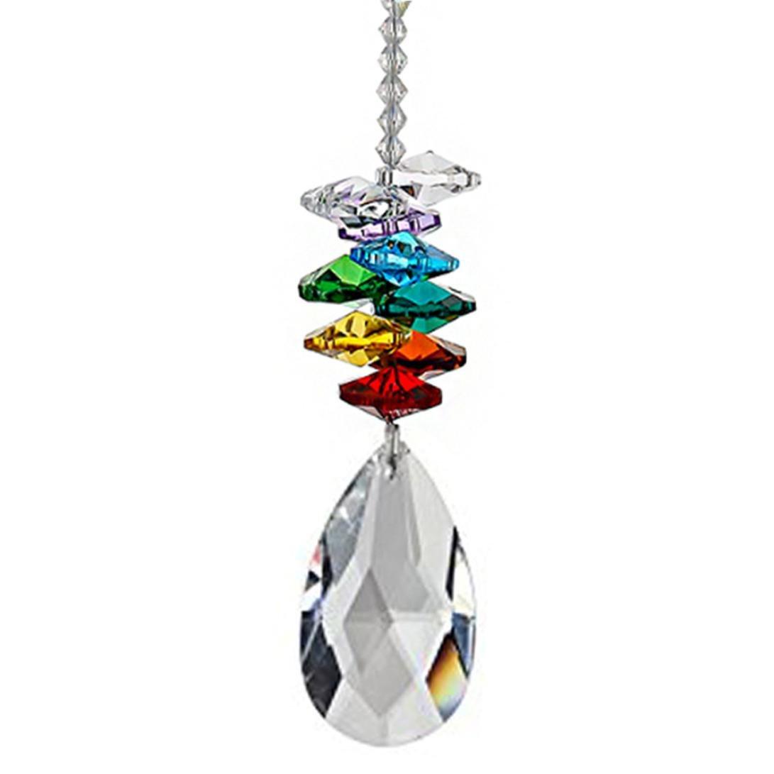 Sannysis Colgante Crystal Ball Colorida caída colgante octogonal octogonal transparente bola de cristal colgante Collection colgar bodas Accesorios Sannysis Home